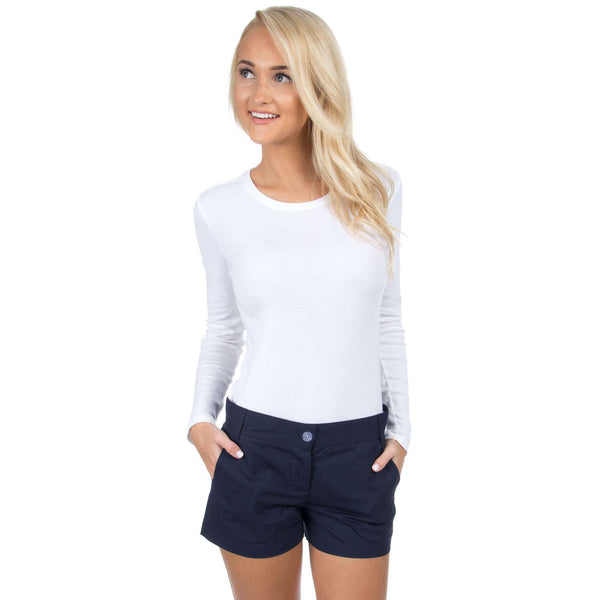 Poplin Short in Navy by Lauren James  - 1