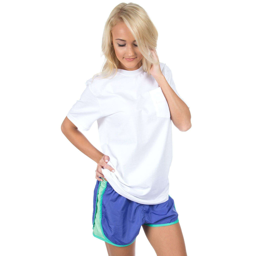 Preptec Athletic Shorts in Periwinkle by Lauren James - Country Club Prep