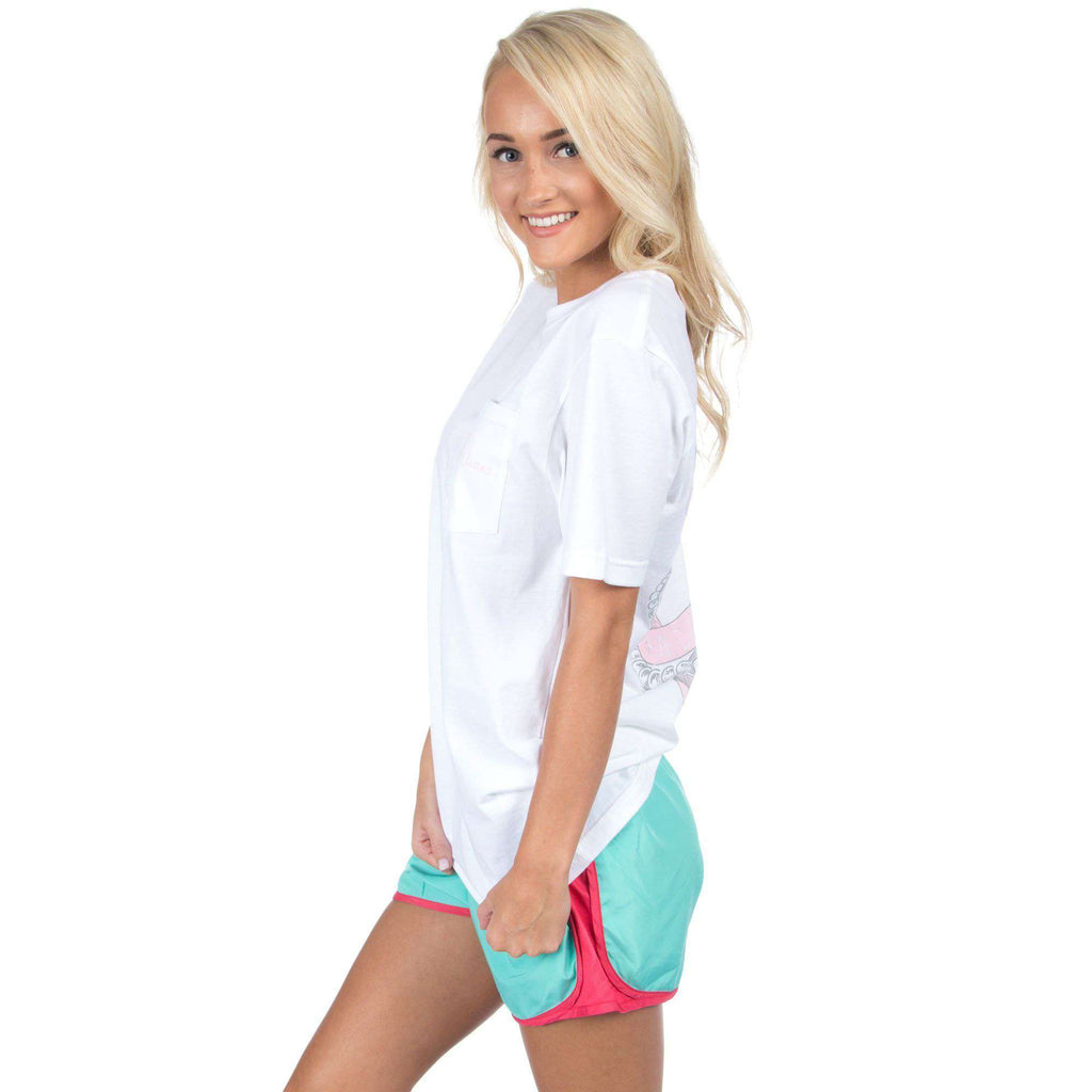 Preptec Athletic Shorts in Seafoam by Lauren James  - 1