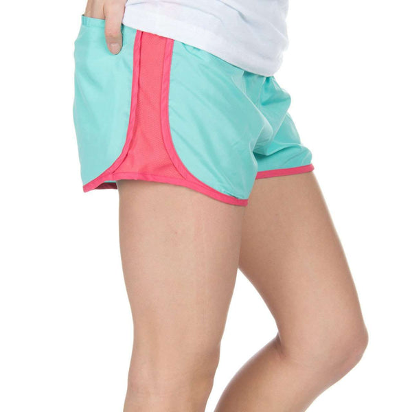 Preptec Athletic Shorts in Seafoam by Lauren James  - 2