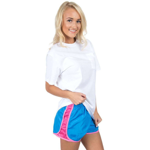 Preptec Athletic Shorts in Ocean Blue by Lauren James