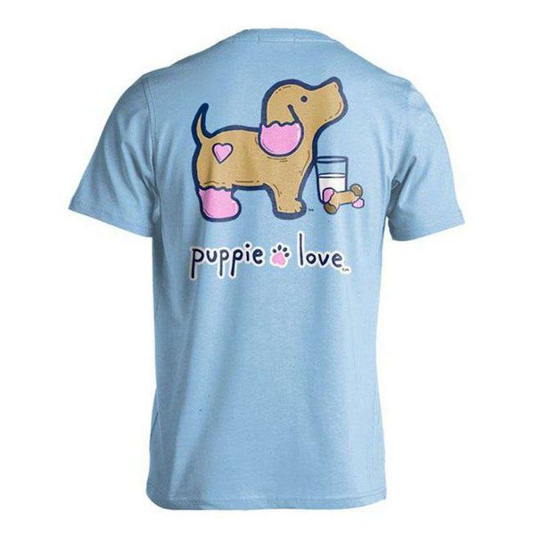 Puppie Love Cookie Pup Tee in Light Blue
