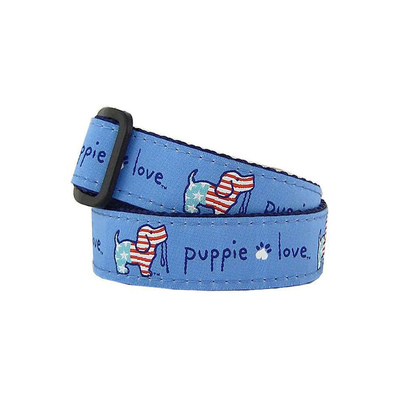 Puppie Love USA Collar in Blue