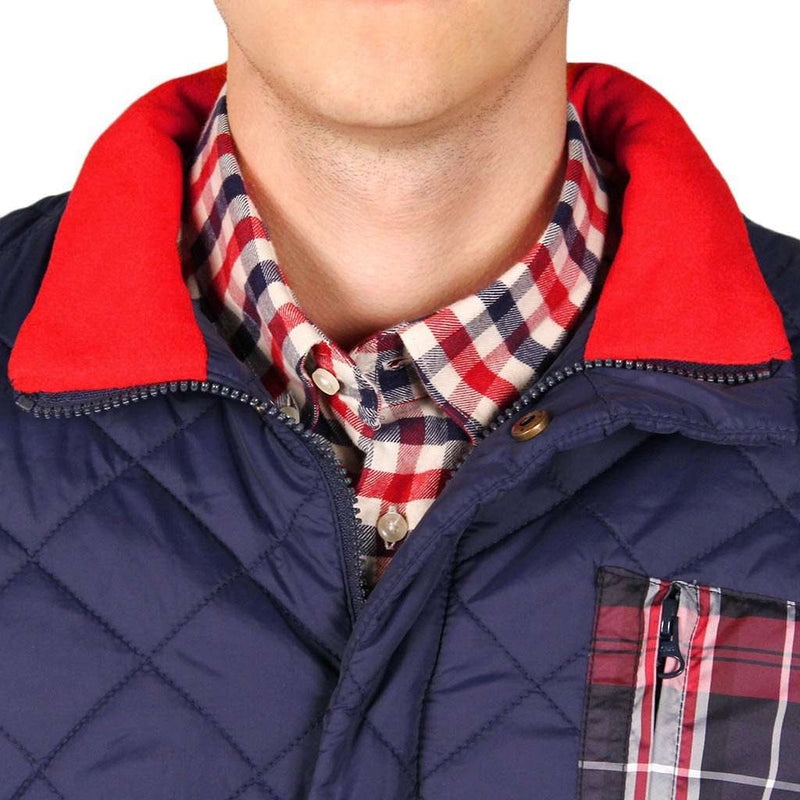 Quilted Full Zip Jacket in Navy by Southern Proper - FINAL SALE