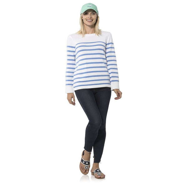 Country Club Prep Blue and White Stripes / XS