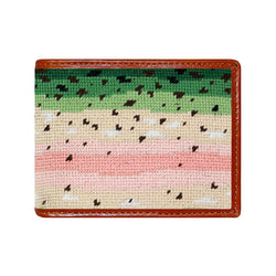 Rainbow Trout Skin Needlepoint Wallet by Smathers & Branson