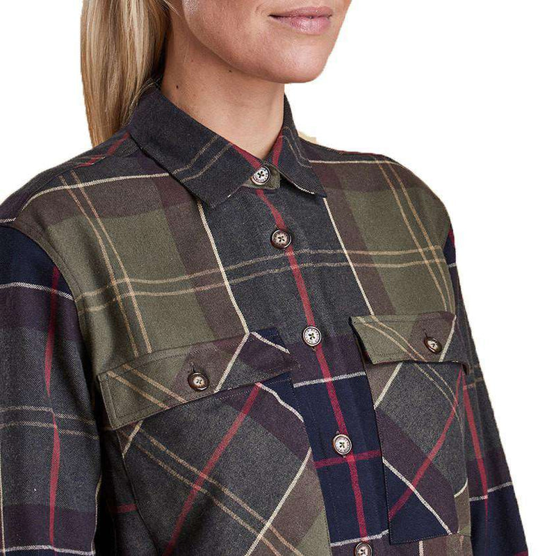 Rannoch Over Shirt in Classic Tartan by Barbour  - 4