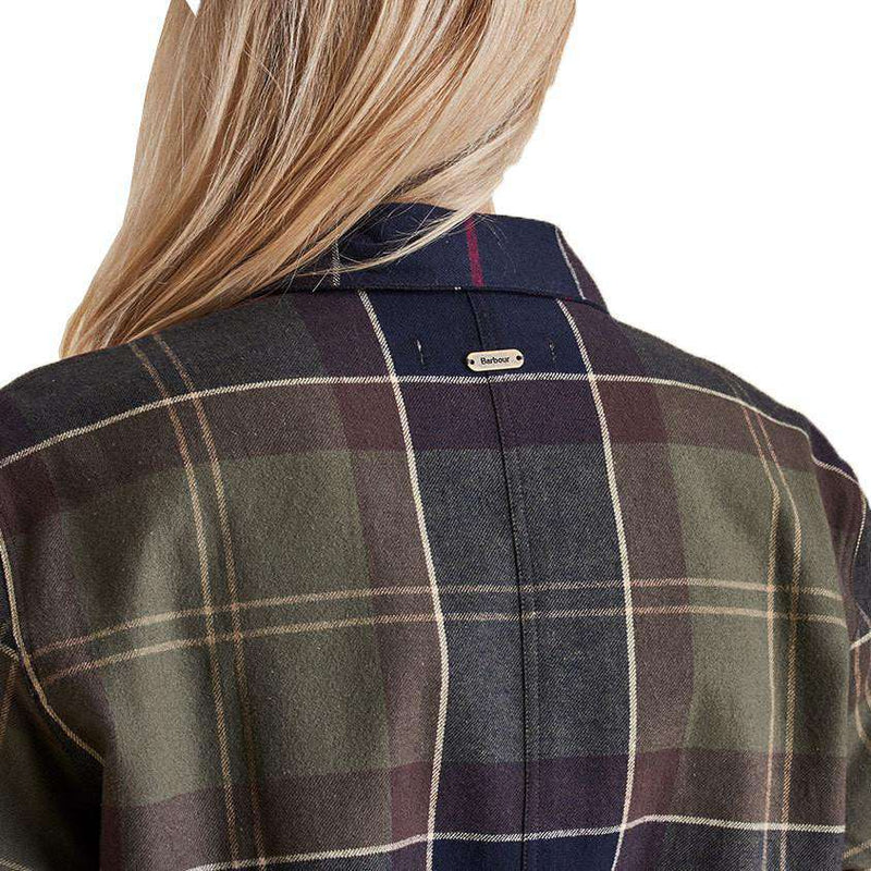 Rannoch Over Shirt in Classic Tartan by Barbour  - 6