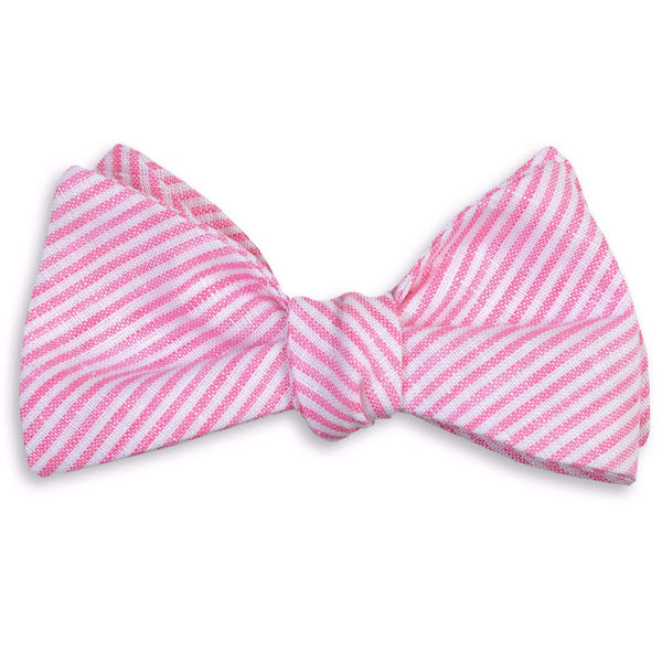Riverfront Linen Bow Tie in Pink by High Cotton  - 1