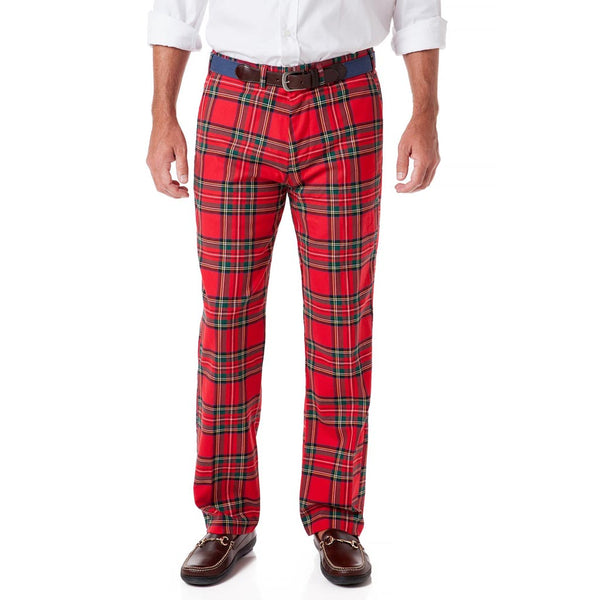 Stretch Twill Harbor Pant in Royal Stewart Tartan Plaid by Castaway Clothing
