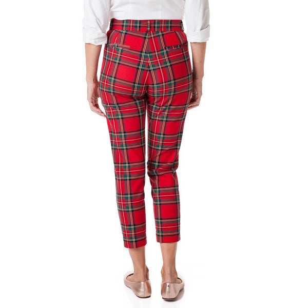 Ladies Beachcomber Stretch Twill Ankle Capri in Royal Stewart Tartan Plaid by Castaway Clothing