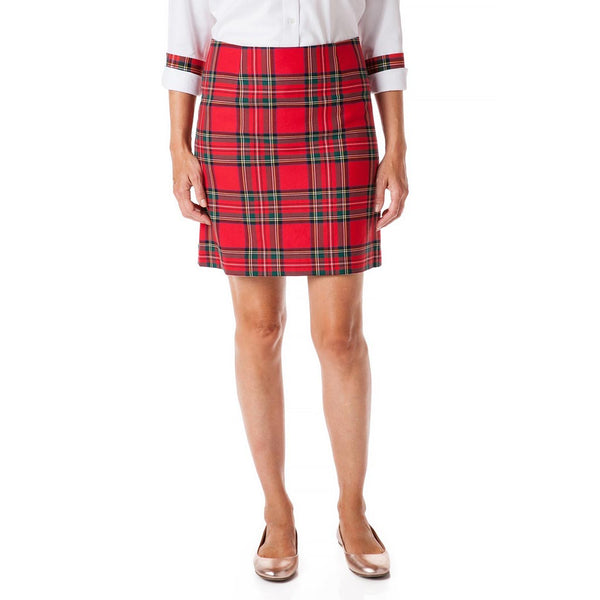 Stretch Twill Ali Skirt in Royal Stewart Plaid by Castaway Clothing