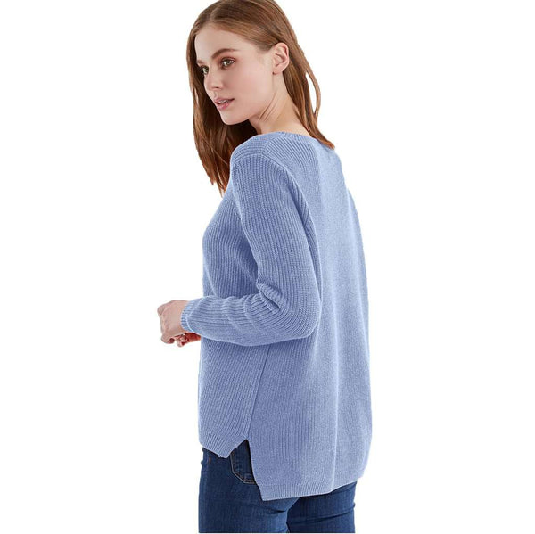 525 America Emma Crewneck Shaker Stitch Sweater by 525 America