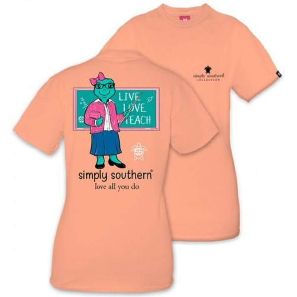 Simply Southern Save the Turtles Teacher Tee by Simply Southern