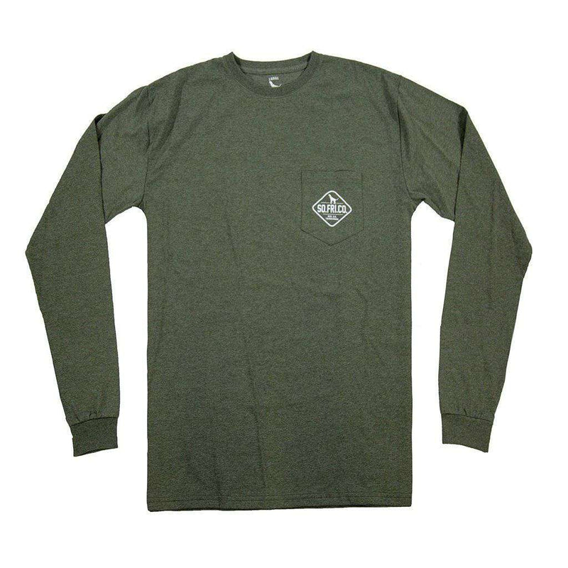 Southern Fried Cotton Camo Gas Patch Long Sleeve Tee by Southern Fried Cotton