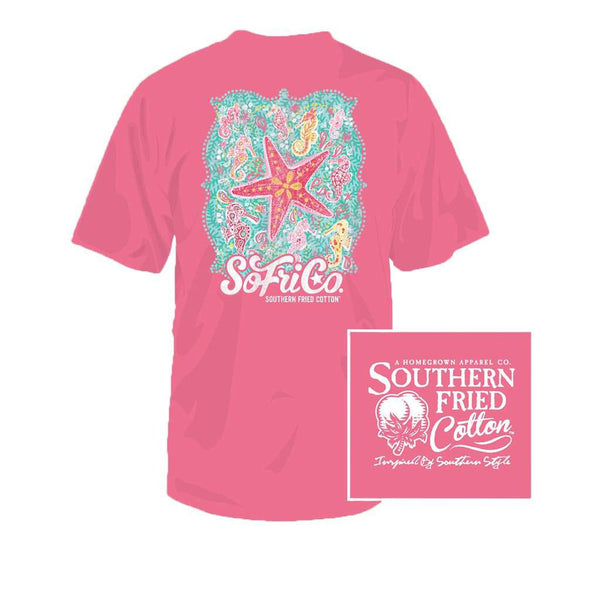 Under the Sea Youth Tee in Pink Jam by Southern Fried Cotton