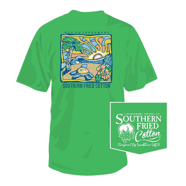 Journey Home Tee in Spring Grass by Southern Fried Cotton