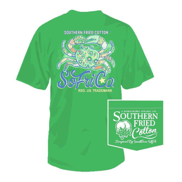 Crab Cake Tee in Spring Grass by Southern Fried Cotton