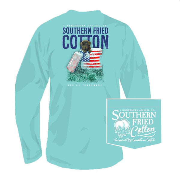 Southern Fried Cotton Governor Long Sleeve Tee in Mason Jar