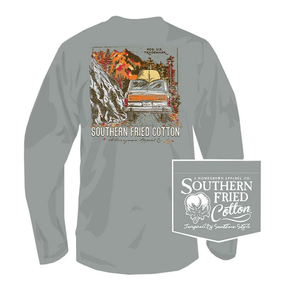 Southern Fried Cotton Headed Up the Country Long Sleeve Tee in Chicken Wire