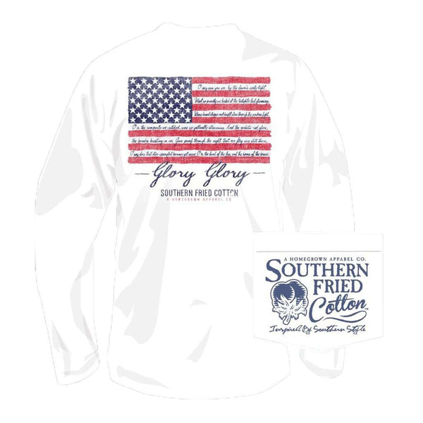 Southern Fried Cotton Glory Glory Long Sleeve Tee in White