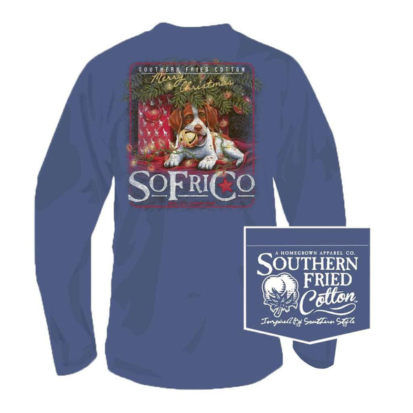 Southern Fried Cotton Waiting for Santa Long Sleeve Tee in Summer Shadow
