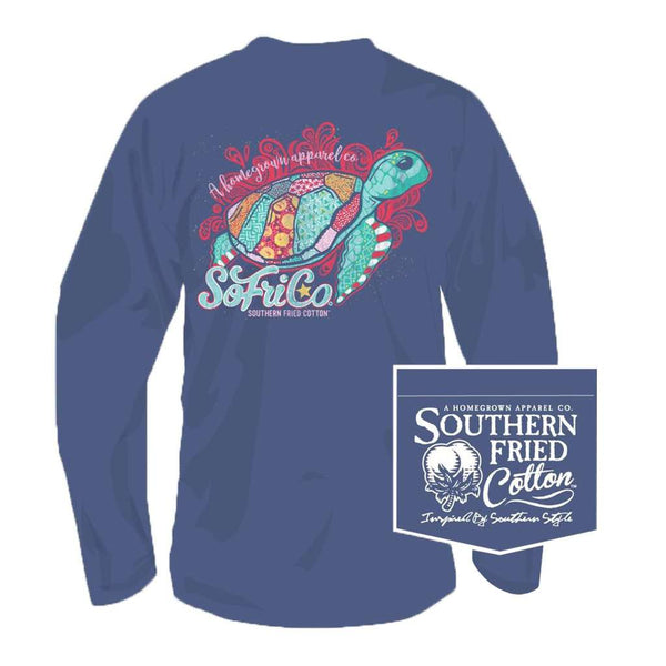 Southern Fried Cotton Follow the Current Long Sleeve Tee in Summer Shadow