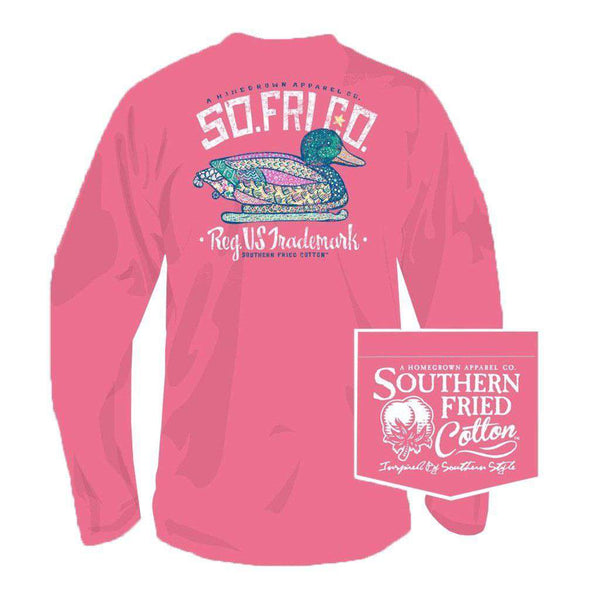 Southern Fried Cotton Darling Decoy Long Sleeve Tee in Pink Jam