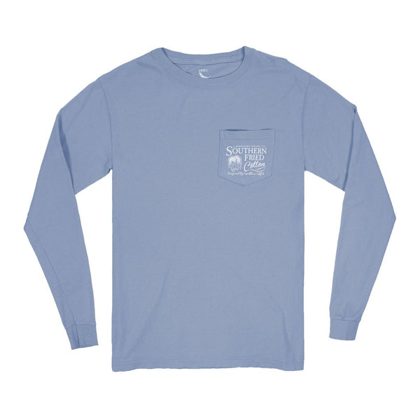 Deep Sea Long Sleeve Pocket Tee by Southern Fried Cotton