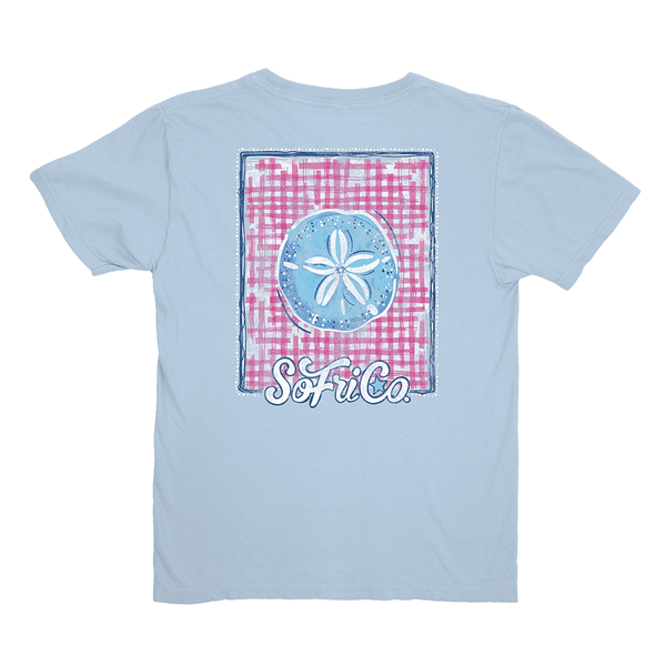 Youth Gingham Sand Dollar Tee by Southern Fried Cotton