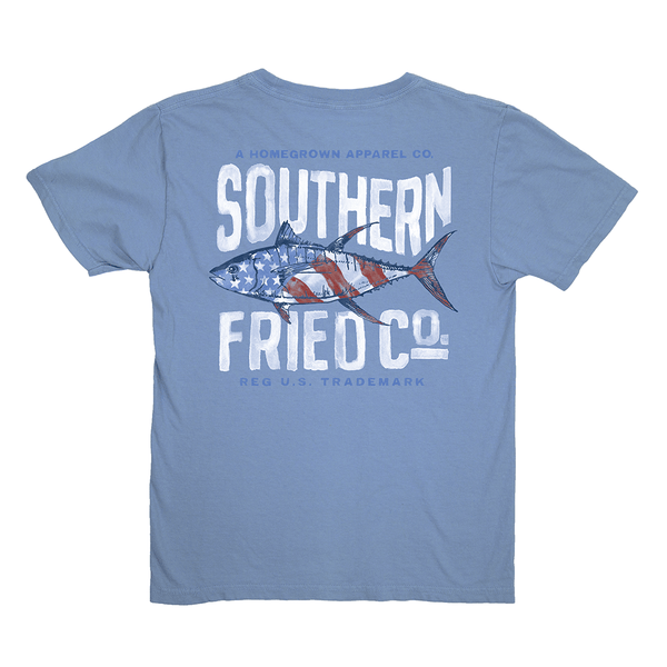 Youth Red, White, & Tuna Tee by Southern Fried Cotton
