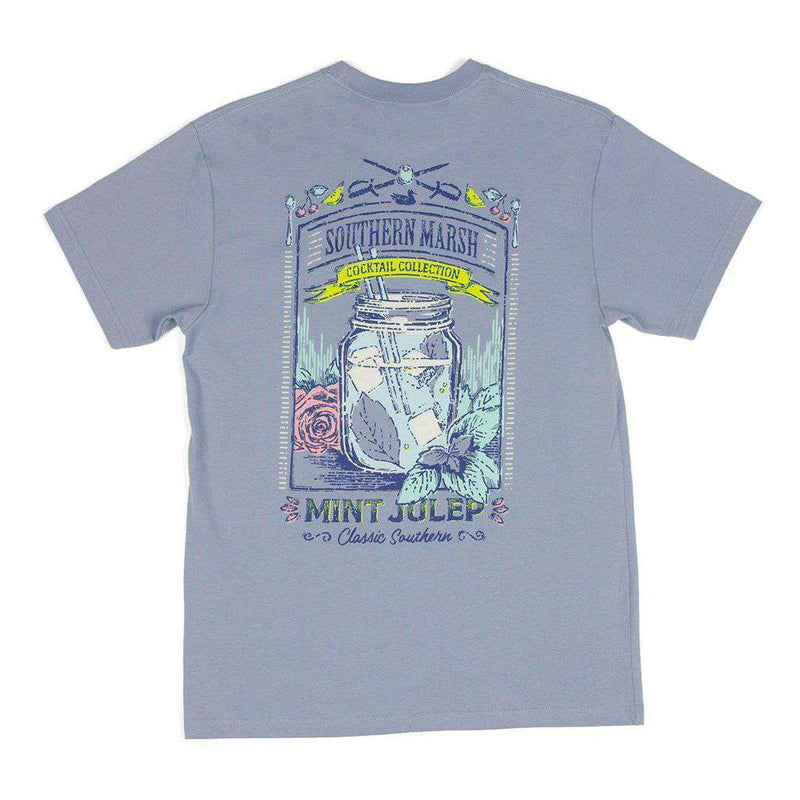 Southern Marsh Cocktail Collection Mint Julep Tee Shirt by Southern Marsh