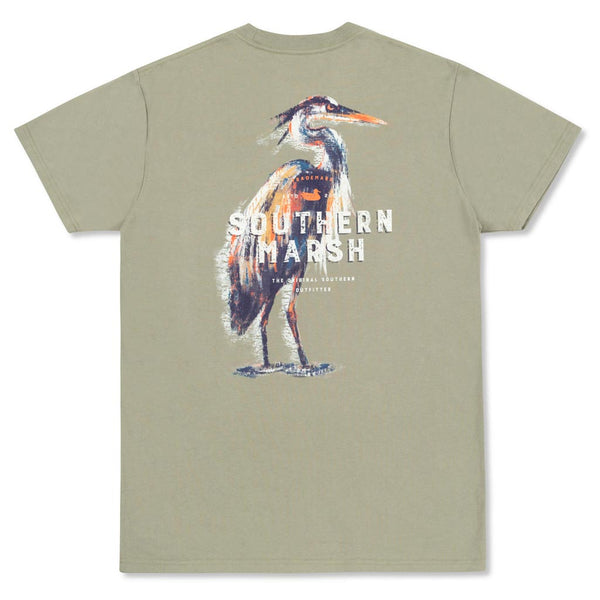 The Impressions Heron Tee by Southern Marsh