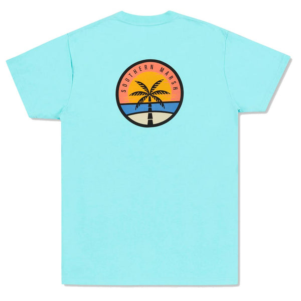 The Sunset Palm Tee by Southern Marsh