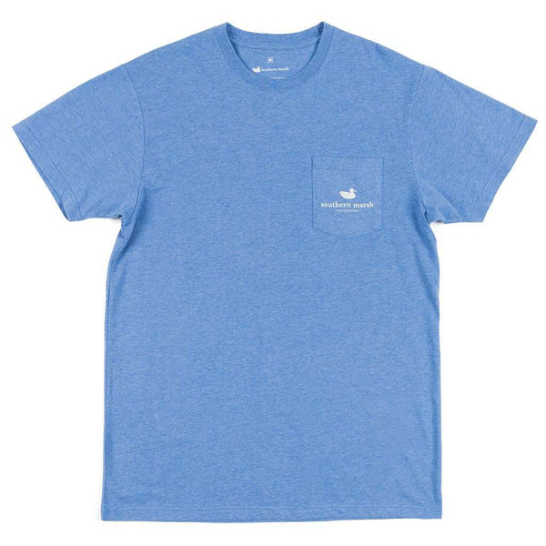 Southern Marsh Relax and Explore - Axe Tee in Washed Oxford Blue