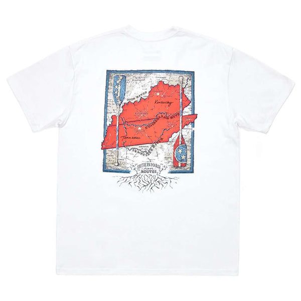 Southern Marsh River Route Collection Tee Tennessee & Kentucky by Southern Marsh