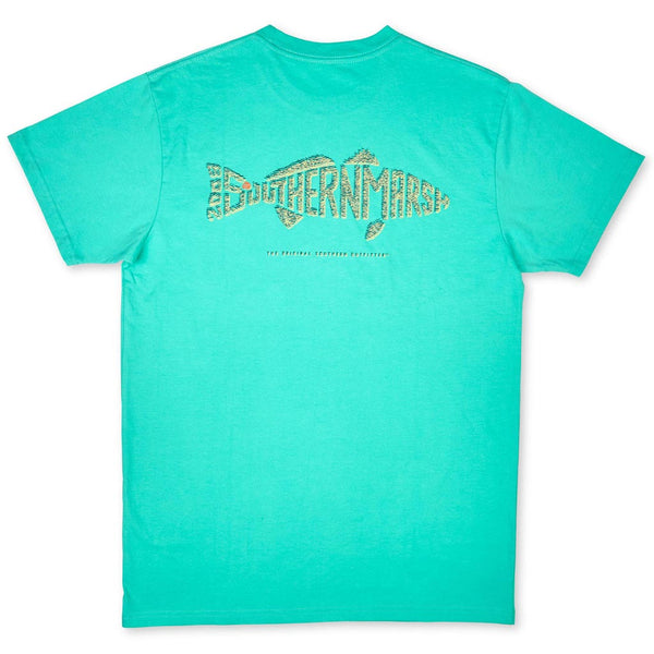 The Redfish Wildlife Words Tee by Southern Marsh