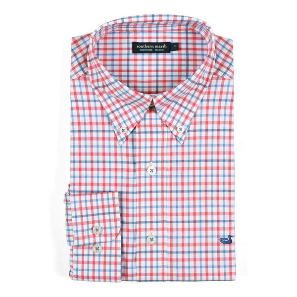 Southern Marsh Chambers Performance Gingham Button Down