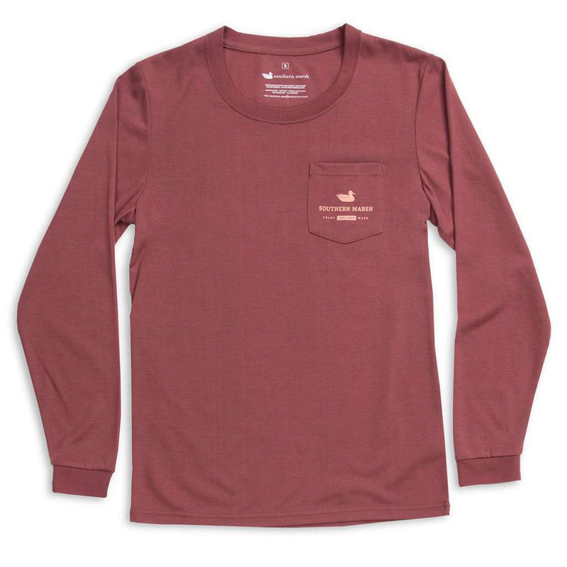 Southern Marsh Long Sleeve FieldTec™ Comfort Tee - Sunset by Southern Marsh