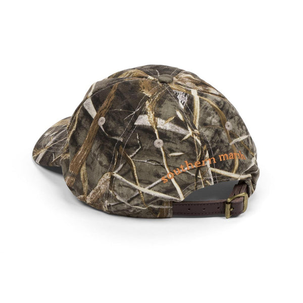 Realtree MAX-5 Camouflage Hat with Orange Duck by Southern Marsh