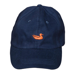 Hat in Navy with Orange Duck by Southern Marsh