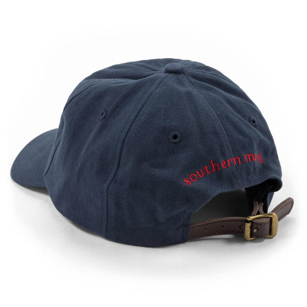 Hat in Navy with Red Duck by Southern Marsh