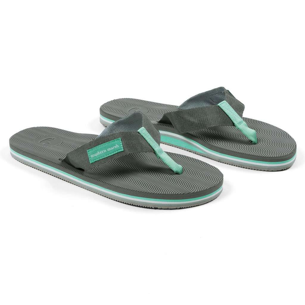 Southern Marsh Webbed Bahama Sandal in Midnight Gray & Navy