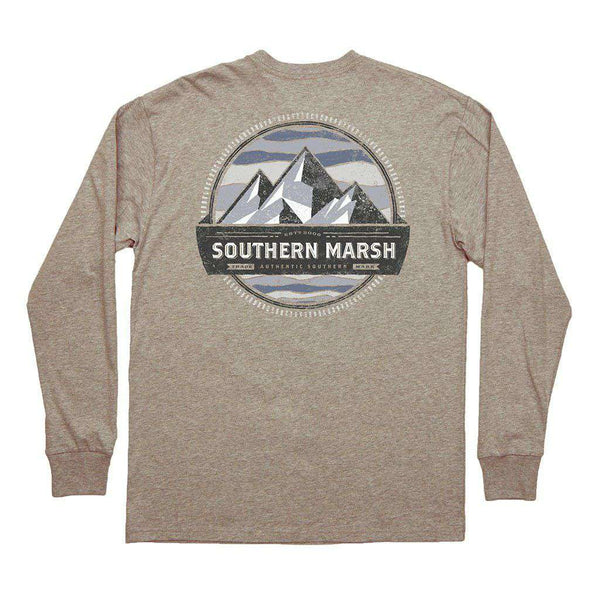 Southern Marsh Banding Collection - Summit Long Sleeve Tee in Washed Burnt Taupe