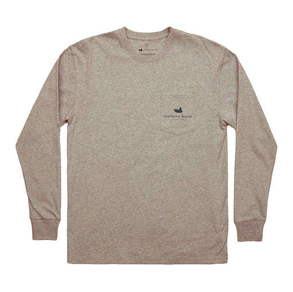 Southern Marsh Branding Collection - Summit Long Sleeve Tee in Washed Burnt Taupe by Southern Marsh