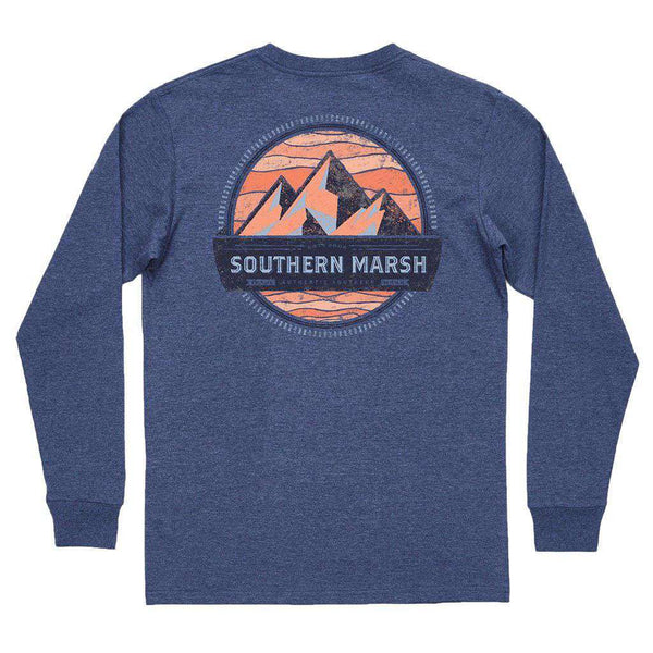 Southern Marsh Branding Collection - Summit Long Sleeve Tee in Washed Navy
