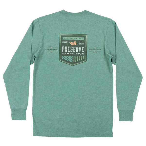 Southern Marsh Long Sleeve Southern Tradition Crest Tee by Southern Marsh