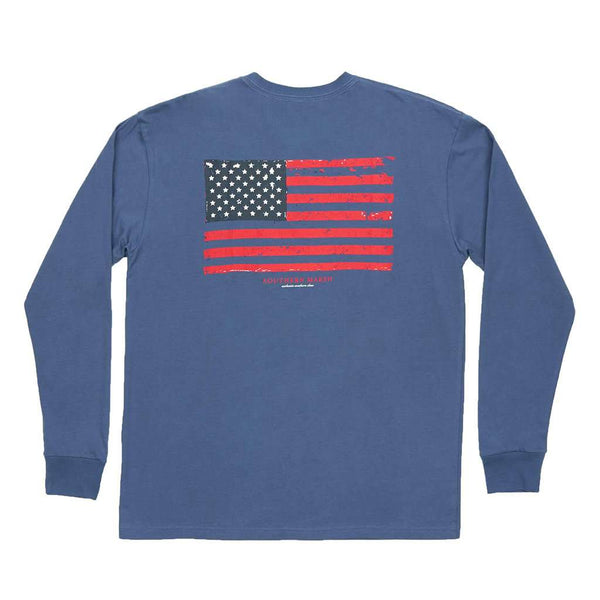 Southern Marsh Long Sleeve Vintage Flag Tee by Southern Marsh