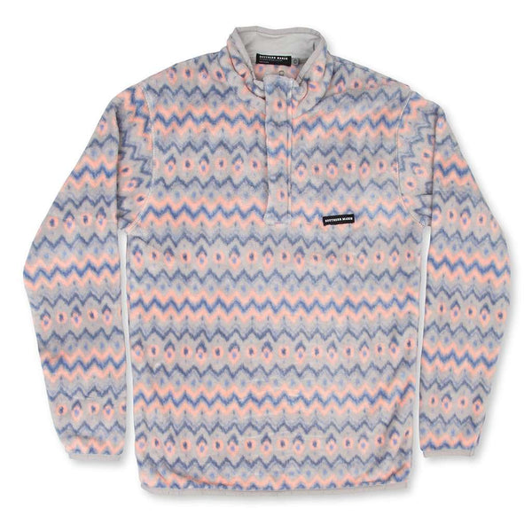 Southern Marsh Tangier Ikat Fleece Pullover by Southern Marsh