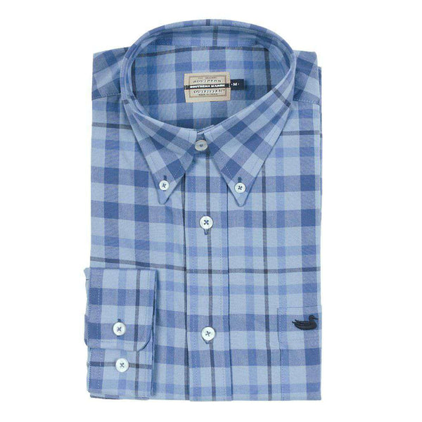 Southern Marsh Boundary Washed Plaid Dress Shirt by Southern Marsh
